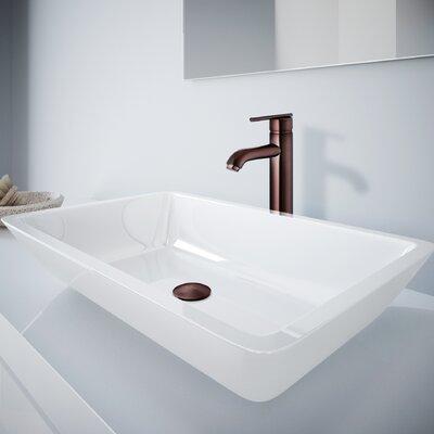 Large Flat Edged Phoenix Stone Rectangular Vessel Bathroom Sink