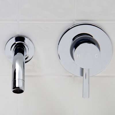 Olus Wall Mount Bathroom Faucet Finish: Chrome