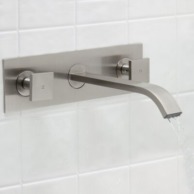 Titus Wall Mount Bathroom Faucet Finish: Brushed Nickel