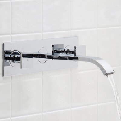 Titus Wall Mount Bathroom Faucet Finish: Chrome