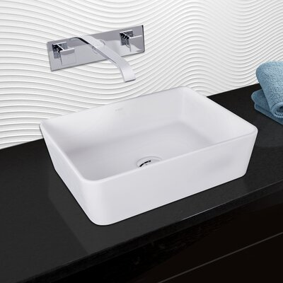 Marigold Rectangular Vessel Bathroom Sink with Faucet