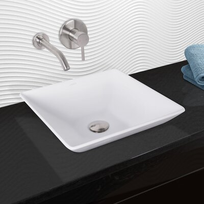 Hibiscus Matte Stone Square Vessel Bathroom Sink