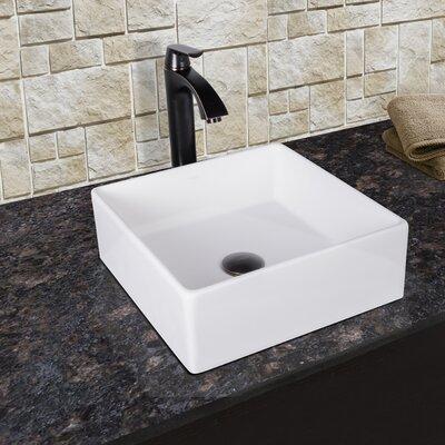 Bavaro Matte Stone Square Vessel Bathroom Sink