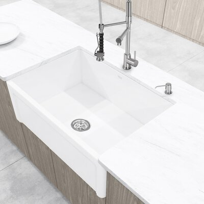 Casement Front Matte Stone 30 x 18 Farmhouse Kitchen Sink