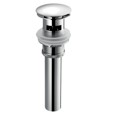 2.5 Pop Up Bathroom Sink Drain With Overflow Finish: Chrome