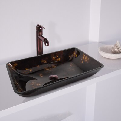 Fusion Rectangular Vessel Bathroom Sink Finish: Fusion