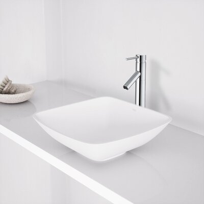 Hyacinth Stone Square Vessel Bathroom Sink