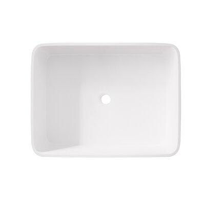 Jasmine Stone Rectangular Vessel Bathroom Sink
