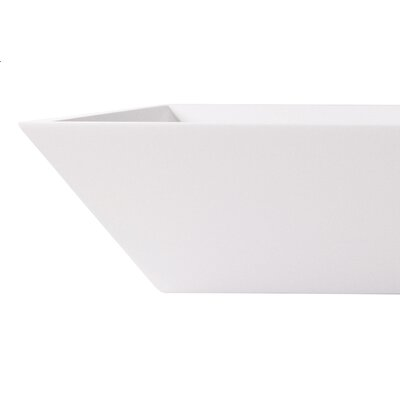 Vinca Stone Rectangular Vessel Bathroom Sink