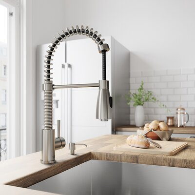 Brant Pull Down Single Handle Kitchen Faucet Finish: Stainless Steel