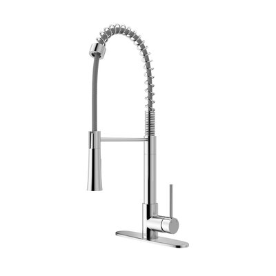 Laurelton Pull Down Single Handle Kitchen Faucet Finish: Chrome