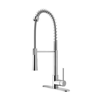 Laurelton Pull Down Single Handle Kitchen Faucet Finish: Chrome