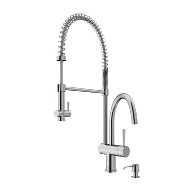 Dresden Pull Down Single Handle Kitchen Faucet Finish: Stainless Steel
