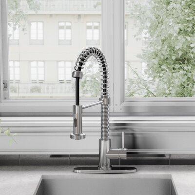 Edison Pull Down Single Handle Kitchen Faucet Finish: Chrome