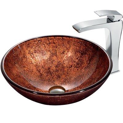 Mahogany Moon Circular Vessel Bathroom Sink