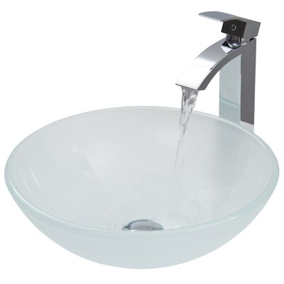 Frost Circular Vessel Bathroom Sink Finish: White Frost