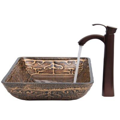 Greek Glass Rectangular Vessel Bathroom Sink