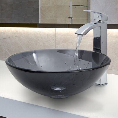 Frost Circular Vessel Bathroom Sink Finish: Sheer Black