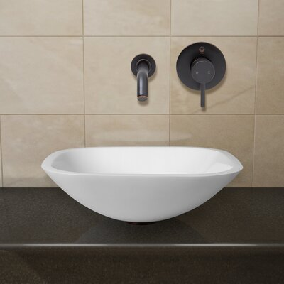 Phoenix Stone Square Vessel Bathroom Sink Faucet Finish: Antique Rubbed Bronze