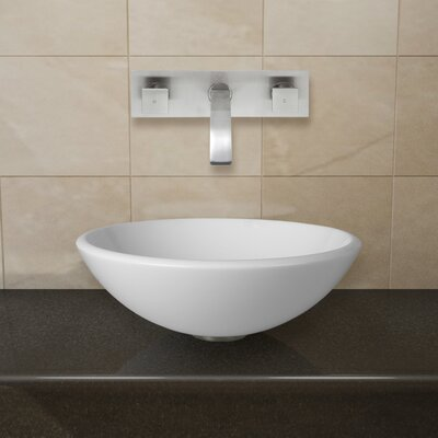 Phoenix Stone Circular Vessel Bathroom Sink Faucet Finish: Brushed Nickel