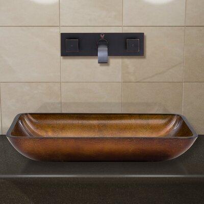 Russet Glass Rectangular Vessel Bathroom Sink Faucet Finish: Antique Rubbed Bronze