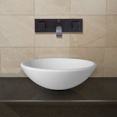 Phoenix Stone Circular Vessel Bathroom Sink Faucet Finish: Antique Rubbed Bronze