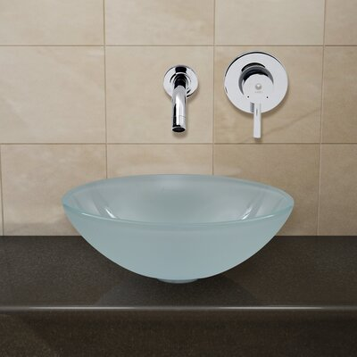 Frost Circular Vessel Bathroom Sink Faucet Finish: Chrome