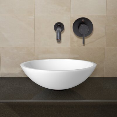 Flat Edged Phoenix Stone Circular Vessel Bathroom Sink Faucet Finish: Antique Rubbed Bronze