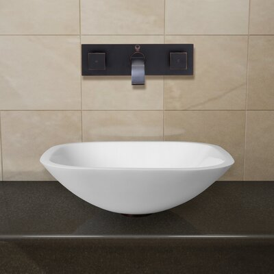 Phoenix Stone Square Vessel Bathroom Sink Faucet Finish: Antique Rubbed Bronze