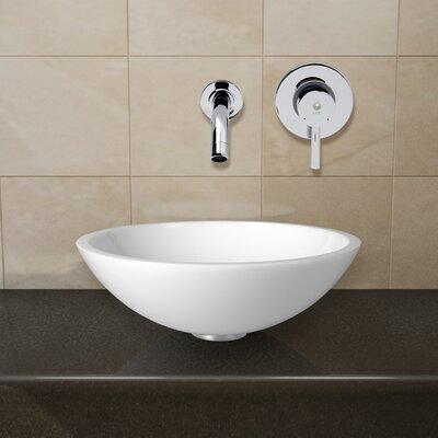 Flat Edged Phoenix Stone Circular Vessel Bathroom Sink Faucet Finish: Chrome