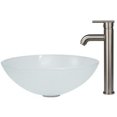 Frost Circular Vessel Bathroom Sink