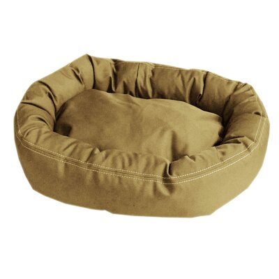 "Brutus Tuff Comfy Cup Bolster Dog Bed Color: Khaki, Size: Small (27"" L x 24"" W)"