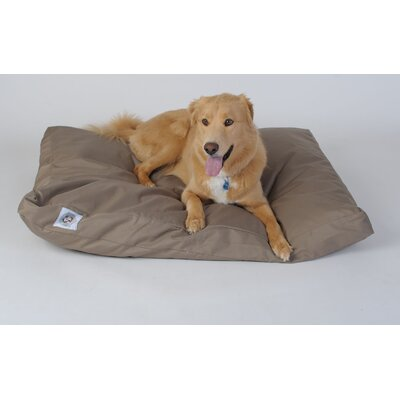 "Brutus Tuff Petnapper Dog Pillow Color: Khaki, Size: Medium (44"" L x 29"" W)"