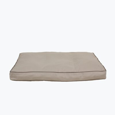 Classic Twill Rectangular Dog Pillow with Sage Cording Size: Medium (36 L x 27 W)