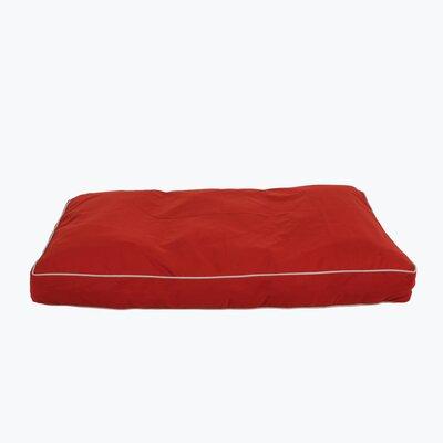 Classic Twill Rectangular Dog Pillow Size: Medium (36 L x 27 W), Color: Red