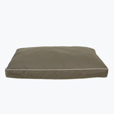 Classic Twill Rectangular Dog Pillow Size: Medium (36 L x 27 W), Color: Sage