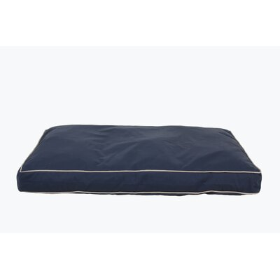 Classic Twill Rectangular Dog Pillow Size: X-Large (48 L x 36 W), Color: Blue
