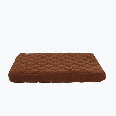 Quilted Orthopedic Dog Pillow with Protector Pad Size: Small (36 L x 27 W), Color: Chocolate