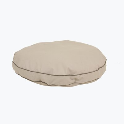 Twill Classic Round Dog Pillow with Sage Cording Size: Small (27 L x 27 W)