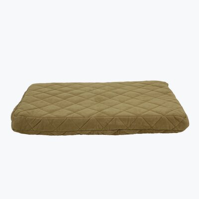 Quilted Orthopedic Dog Pillow with Protector Pad Size: Large (48 L x 36 W), Color: Caramel