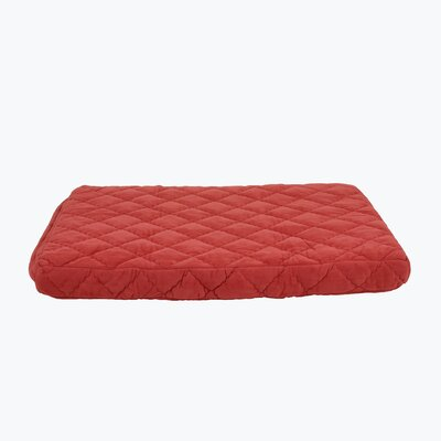 Quilted Orthopedic Dog Pillow with Protector Pad Size: Small (36 L x 27 W), Color: Earth Red