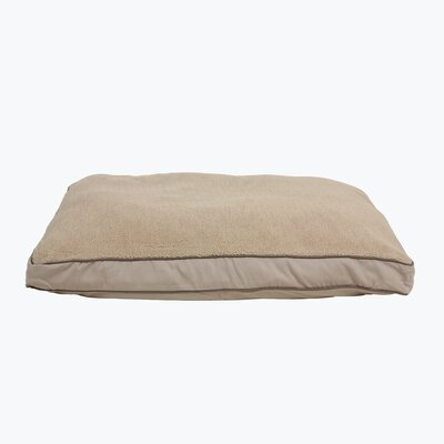 Four Season Dog Pillow with Cashmere Berber Top Size: Medium (36 L x 27 W)