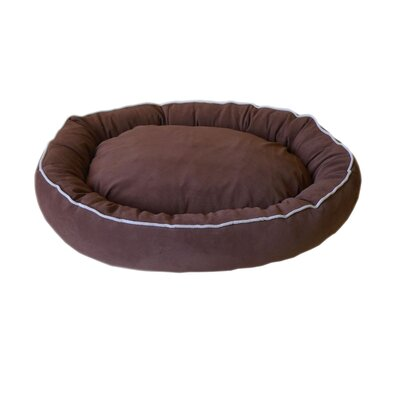 Oval Lounge Bagel Donut Dog Bed Size: Medium (30 L x 24 W), Color: Chocolate