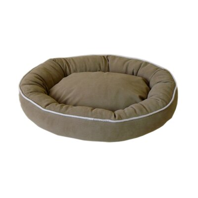 Oval Lounge Bagel Donut Dog Bed Size: Medium (30 L x 24 W), Color: Sage