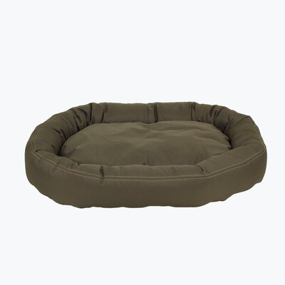 Brutus Tuff Comfy Cup Bolster Dog Bed Size: Medium (36 L x 32 W), Color: Olive