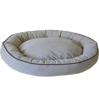 Oval Lounge Bagel Donut Dog Bed Size: Extra Large (42 L x 30 W), Color: Linen