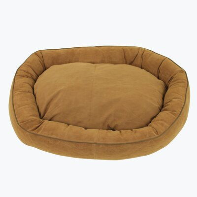 Oval Lounge Bagel Donut Dog Bed Size: Medium (30 L x 24 W), Color: Saddle