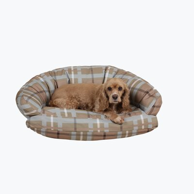 Brutus Tuff Semi Circle Lounger Bolster Dog Bed Size: Small (32 L x 24 W)