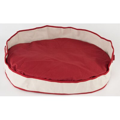 Tote Cuddler Oval Bolster Dog Bed Size: Large (40 L x 32 W), Color: Red