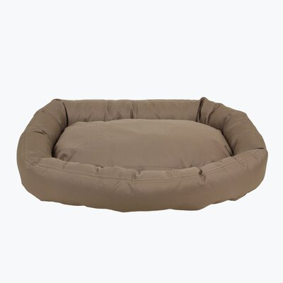 Brutus Tuff Comfy Cup Bolster Dog Bed Size: Small (27 L x 24 W), Color: Khaki